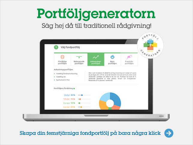 Portföljgeneratorn - Skapa en femstjärnig fondportfölj på bara några klick