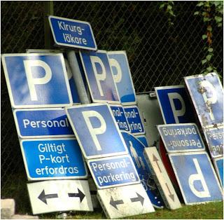 Parkeringskyltar