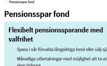 SEB Pensionspar fond