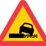Trafikskylt svag kant