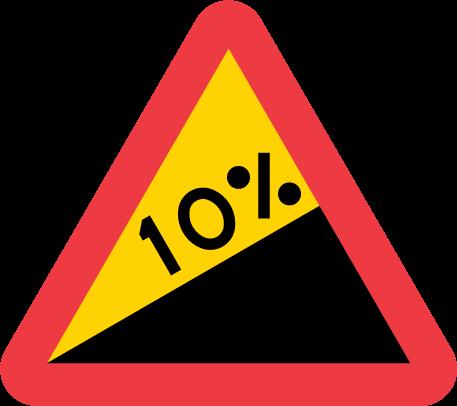 skylt 10 proc upp