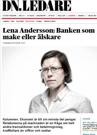 Lena andersson banken som make eller alskare